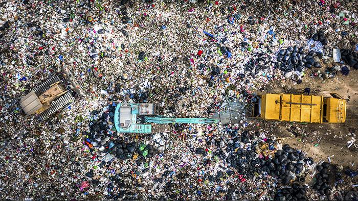 basura en vertedero