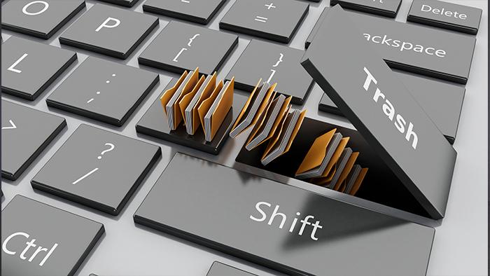 teclado basura